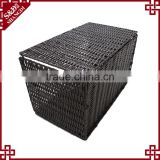Wholesales washable PE rattan handewoven folding plastic basket used for hotel laundry storage