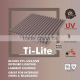 UV coated Heat reflective Bayer Polycarbonate Corrugated sheet (Ti-Lite Metallic Bronze MINI)