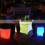 light up glow led cube seat used outdoor event furniture Colorful RGB led cube light bar chair