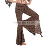 Belly dance indian hollow out slit pants