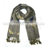 Anti-Wrinkle Comfortable Styliest Wool Lady Woven Scarf For Sale