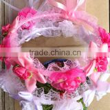 Charming Baby Girl Flower Headband Adjustable Floral head wreath for wedding party holiday