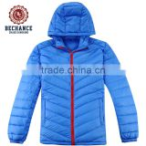 product feature windproof product style light down jacket plus size contrast red zipper men duck down jackets for winters