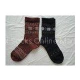 Warm Angora Single Leisure Mens Wool Socks Breathable For Hiking / Skiing / Camping