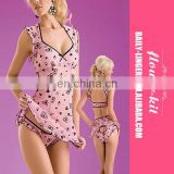Fashionable Heart Flower Embellished Sleepwear Sexy Women Babydoll Wholesale