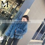 Wholesale Short Style Coats New Arrival Factory Price Winter Real Fox Fur Coat Women Blue Fox Fur Coat