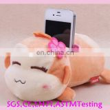 OEM lovely plush monkey mobile phone holder