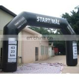 black inflatable promotional digital printing arch/event arch