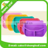 non-toxic Silicone food serving plate bowls of 3 parts