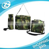 100% QC Promotional Camouflage Fabric Polyester Delivery Carry Insulated Portable Heavy Duty Cooler Bag