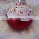 BALL CHRISTMAS ORNAMENT JC PENNYS DECORATION