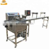 Cake pie wafer chocolate dipping covering coating spreading machine for egg roll