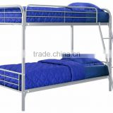 Stainless steel double bunk bed dormitory bunk bed with desk and drawer