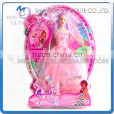 Mini Qute 36 cm kawaii beautiful American Latex kid fashion Plastic doll model educational toy with accessories NO.YS2012-1C