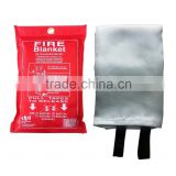 High Quality 100% Fiberglass Fire Blanket CE Approved Fire Resistant Blanket Supplier 1*1m