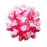 Giant Confetti Bow - Silver Color in 230m dia with 25mm wide ribbon and 30loops, on Full colors Printing Backing Board