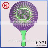 Hot sale Customized high quality poplar Wooden Beach Tennis Racket/beach bat /beach paddle with pvc ball wholesale