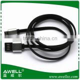 Gold supplier 5 wire noodle micro usb cable , braided micro usb flat cable made in China