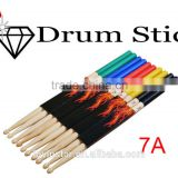 Professional 5 Colored 7A Maple Wood Lighting Drumsticks