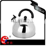 caitang stainless steel flat bottom hemisphere whistling kettle/ water pitcher/ water jug silver