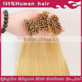 New arrival top quanlity silky straight double drawn 2g strands i tip hair extensions