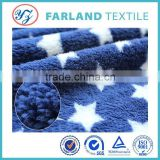100%polyester knit pattern cheap wholesale blankets fabric super soft velour(sherpa)printed