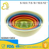 ODM and OEM cutom logo bamboo round melamine mixing bowl set                                                                         Quality Choice