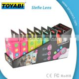 Multicolor camera lens Fish Eye Lens Wide Angle Lens Micro Lens 3 in1 Easy Use Camera Lens Kits Special for smartphone
