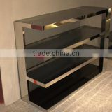 2016 Foshan Factory Supply Pure Black Metal Stainless Steel Console Table
