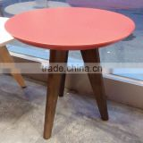Modern Fashion Red Color 3 Legs Designs Small Round Table Living Room Small Tea Table Sofa Small Table