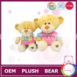 High quality family teddy bear soft toys with colorful suits