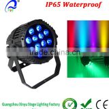 12x15w 5 in 1 Waterproof outdoor RGBWA LED Par Can DMX512 RGB Stage Disco DJ Lighting projector