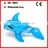 150CM blue color inflatable pool dolphin riders pool floats