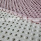 polyester minky dot fabric /velboa fabric for children/baby wear/blanket