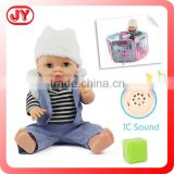 Gift 16 inch plastic doll candy with musical fence 12 different IC sounds drink and pee with EN71