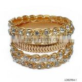 Fashion gold bangle jewelry set faux diamond bangle indian jewelry