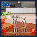 Salt and Pepper Mill Grinder Pepper Mill Spice Grinder Kitchen Tools Stainless Steel for Hotel Home Restaurant