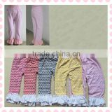 wholesale children cotton ruffle pants with ruffle