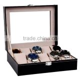 Wholesale Custom Stunning Wlegant 10 Slots Black Wooden Watch Boxes For Men.                                                                         Quality Choice