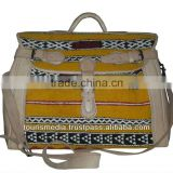 Moroccan kilim bags handmade by yellow kilim and genuine leather
