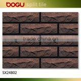 Exterior decorative facade wall siding brick tile mountainshape surface rough 60x240mm cheap price
