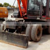 flexible japan made used hitachi ZX160W wheel excavator hot sale