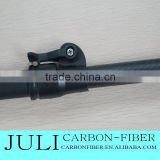 100% carbon fiber telescopic pole,using for carbon fiber flag pole, telescopic carbon fiber pole with clamps