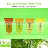 trasparent screw cap tube pack hotel cosmetic liquids shampoo conditioner bath gel body lotion