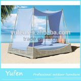 new style round rattan outdoor bed outdoor swing