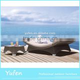 Rattan sun beach chair used chaise lounge