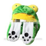 Kids Adults plush Earmuff Scarf Gloves of different shaped animals