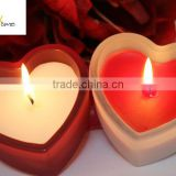 custom heart shape candle sets for wedding & Valentine / heart wedding set / heart shaped candles