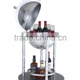 "14.2""/360mm Diam modern wood wine cooler cabinet/wine display cabinet"
