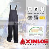 Xinke security workwear men's fireproof bib pants with pockets on the sides factory                                                                         Quality Choice